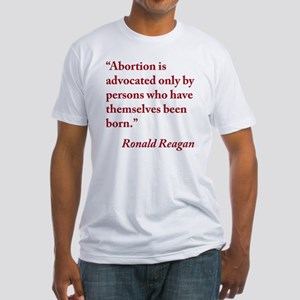 reagan-abortion-quote-square Fitted T-Shirt