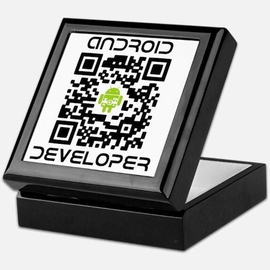 android-qr-3inch-300dpi Keepsake Box