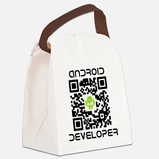android-qr-3inch-300dpi Canvas Lunch Bag