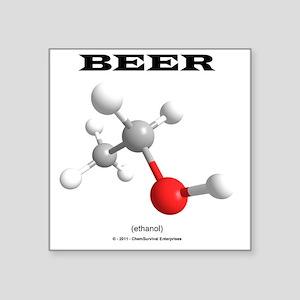 "ethanol2 Square Sticker 3"" x 3"""
