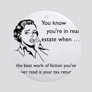Best Fiction Glass Round Ornament