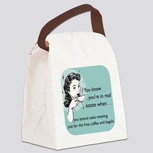 Free Food Glass Canvas Lunch Bag