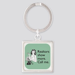 Show More Glass Square Keychain