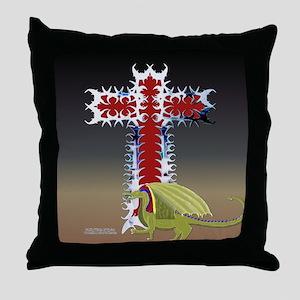 Dragon Cross Throw Pillow
