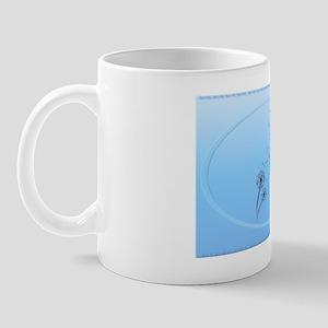 Wall Peels Dandelion on Baby Blue Oval Mug