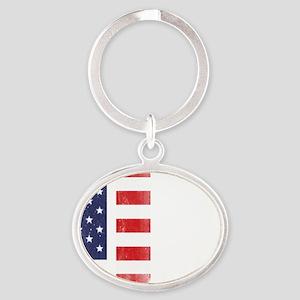 911SeptC Oval Keychain
