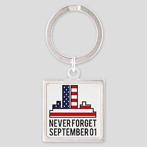 911SeptA Square Keychain