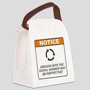 Social_Worker_Notice_Argue_RK2011 Canvas Lunch Bag