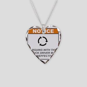 Truck_Driver_Notice_Argue_RK2 Necklace Heart Charm