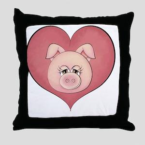 pig heart-001 Throw Pillow