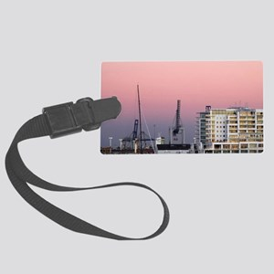 Tall Ship and Hilton Hotel Large Luggage Tag