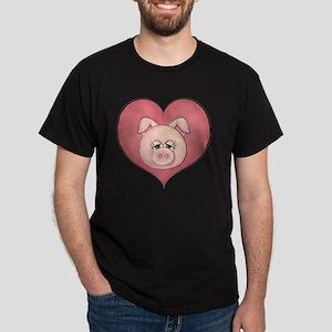pig heart-001 Dark T-Shirt