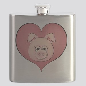 pig heart-001 Flask