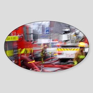 Firefighting, Dunedin, South Island Sticker (Oval)