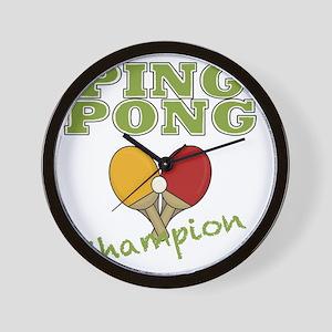 ping pong champ-001 Wall Clock