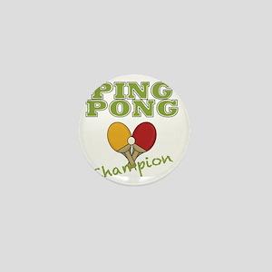 ping pong champ-001 Mini Button
