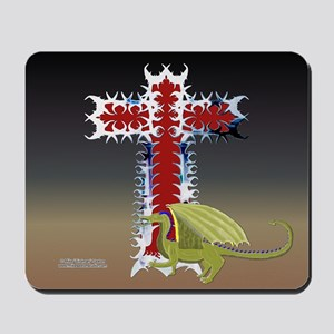 Dragon Cross Mouse Pad