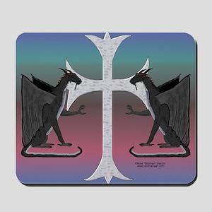 Platinum Dragons Mouse Pad