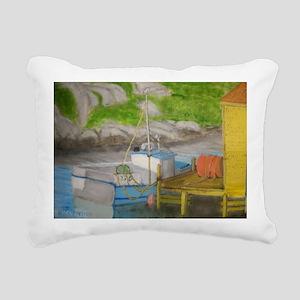 Fishing boat - Peggys Co Rectangular Canvas Pillow