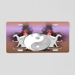 White Dragons Aluminum License Plate