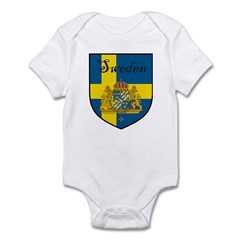 Sweden Flag Crest Shield Infant Bodysuit