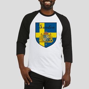 Sweden Flag Crest Shield Baseball Jersey