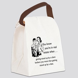 Stood Up Glass Canvas Lunch Bag