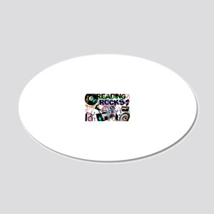 reading copy 20x12 Oval Wall Decal