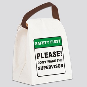 Supervisor_Dont_Wake_RK2011_10x10 Canvas Lunch Bag