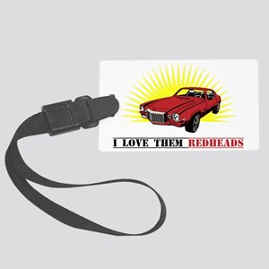 red heads Large Luggage Tag