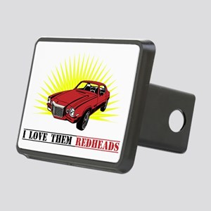 red heads Rectangular Hitch Cover