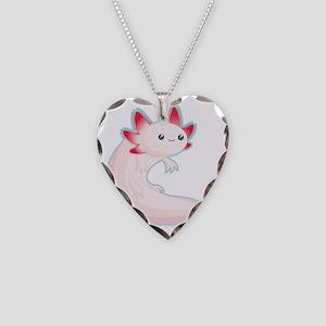 axolotl Necklace Heart Charm