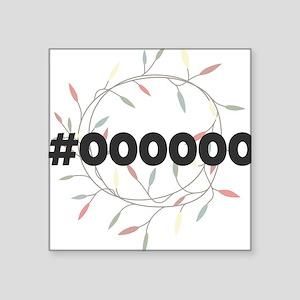 #000000 Sticker