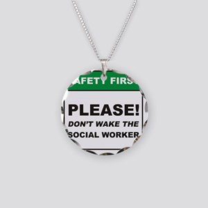 Social_Worker_Dont_Wake_RK20 Necklace Circle Charm