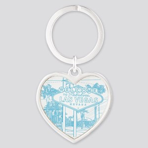 LasVegas_10x10_WelcomeSign_LghtBlue Heart Keychain