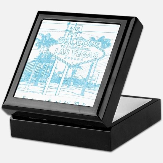 LasVegas_10x10_WelcomeSign_LghtBlue Keepsake Box