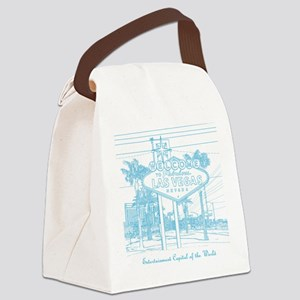 LasVegas_10x10_WelcomeSign_LghtBl Canvas Lunch Bag