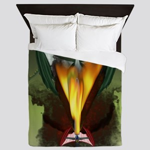 Dragon Smoke Queen Duvet