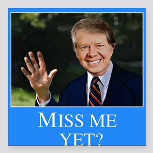 "Carter Miss Me Yet Square Car Magnet 3"" x 3"""
