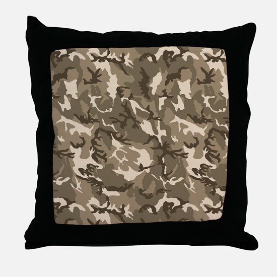 camo-tan Throw Pillow