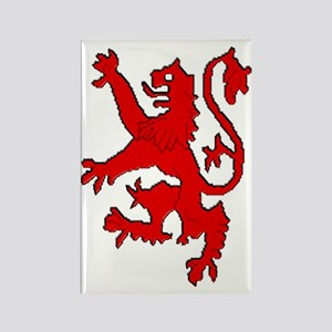 Scottish red lion rampant Rectangle Magnet