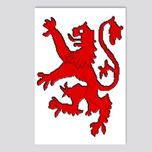 Scottish red lion rampant Postcards (Package of 8)