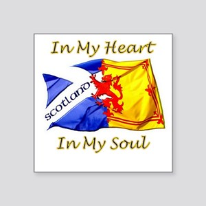 "in my heart scotland darks Square Sticker 3"" x 3"""