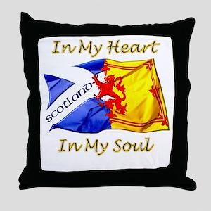 in my heart scotland darks Throw Pillow