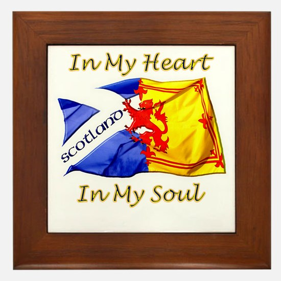 in my heart scotland darks Framed Tile