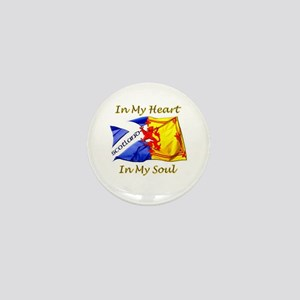 in my heart scotland darks Mini Button