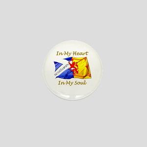 in my heart scotland darks Mini Button