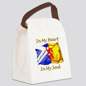 in my heart scotland darks Canvas Lunch Bag