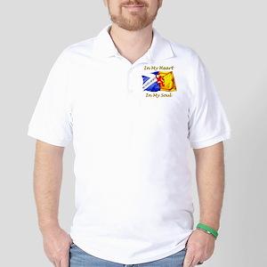 in my heart scotland darks Golf Shirt