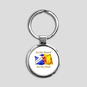 in my heart scotland darks Round Keychain